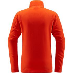 Haglöfs Astro T-shirt zippé Homme, habanero